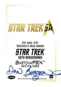 Star Trek 50th Anniversary Trading Card Sketch Dan Bergen Back