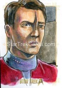 Star Trek 50th Anniversary Trading Card Sketch Dan Gorman