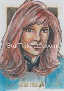 Star Trek 50th Anniversary Trading Card Sketch Dan Gorman Alternate