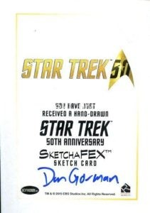 Star Trek 50th Anniversary Trading Card Sketch Dan Gorman Back