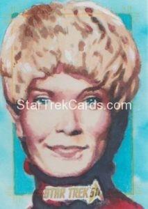 Star Trek 50th Anniversary Trading Card Sketch Danny Silva Alternate