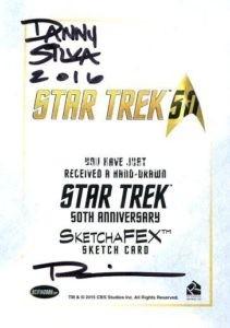 Star Trek 50th Anniversary Trading Card Sketch Danny Silva Back