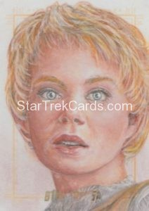 Star Trek 50th Anniversary Trading Card Sketch Debbie Jackson