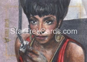 Star Trek 50th Anniversary Trading Card Sketch Debbie Jackson Alternate