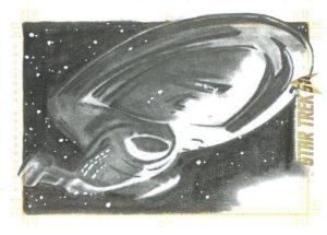 Star Trek 50th Anniversary Trading Card Sketch Francois Chartier