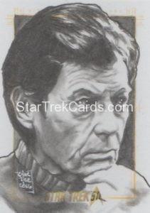 Star Trek 50th Anniversary Trading Card Sketch Francois Chartier Alternate