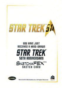 Star Trek 50th Anniversary Trading Card Sketch Francois Chartier Back