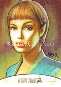 Star Trek 50th Anniversary Trading Card Sketch Frank Kadar