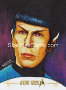 Star Trek 50th Anniversary Trading Card Sketch Frank Kadar Alternate