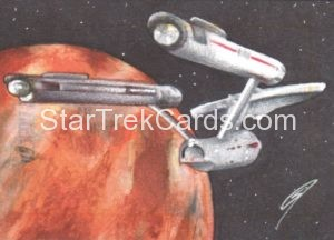 Star Trek 50th Anniversary Trading Card Sketch Gabe Farber Alternate