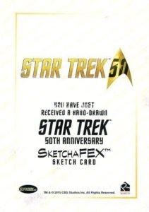 Star Trek 50th Anniversary Trading Card Sketch Gabe Farber Back