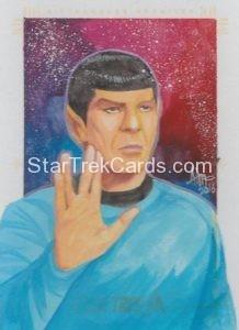Star Trek 50th Anniversary Trading Card Sketch Irma Ahmed Alternate 1