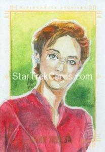 Star Trek 50th Anniversary Trading Card Sketch Irma Ahmed Alternate 2