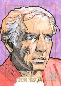 Star Trek 50th Anniversary Trading Card Sketch Jason Kemp