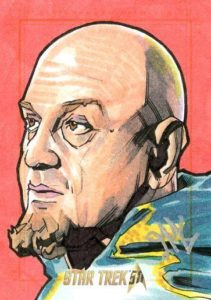 Star Trek 50th Anniversary Trading Card Sketch Jason Kemp Alternate