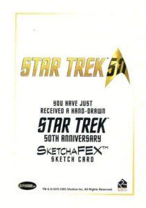 Star Trek 50th Anniversary Trading Card Sketch Jason Kemp Back