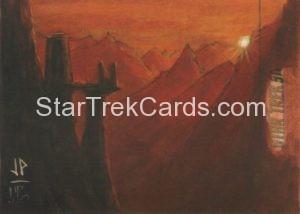 Star Trek 50th Anniversary Trading Card Sketch Jason Potratz