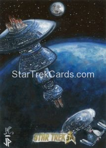 Star Trek 50th Anniversary Trading Card Sketch Jason Potratz Alternate