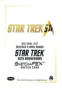 Star Trek 50th Anniversary Trading Card Sketch Jason Potratz Back