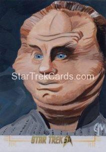 Star Trek 50th Anniversary Trading Card Sketch Jeff Mallinson Alternate