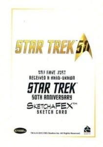 Star Trek 50th Anniversary Trading Card Sketch Jeff Mallinson Back