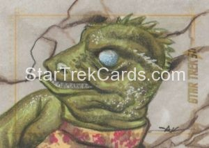 Star Trek 50th Anniversary Trading Card Sketch Jim Kyle Alternate