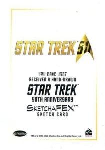 Star Trek 50th Anniversary Trading Card Sketch Jim Kyle Back