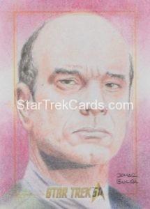 Star Trek 50th Anniversary Trading Card Sketch Jomar Bulda Alternate