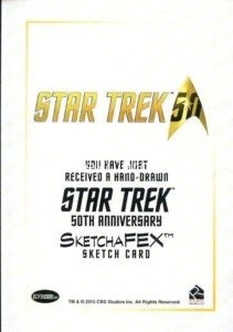 Star Trek 50th Anniversary Trading Card Sketch Jomar Bulda Back