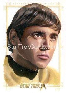 Star Trek 50th Anniversary Trading Card Sketch Kevin Graham