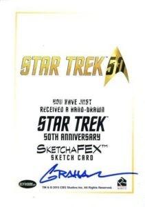 Star Trek 50th Anniversary Trading Card Sketch Kevin Graham Back