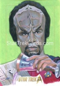 Star Trek 50th Anniversary Trading Card Sketch Kris Penix