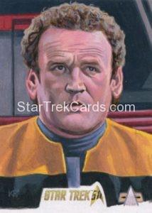 Star Trek 50th Anniversary Trading Card Sketch Kris Penix Alternate