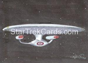 Star Trek 50th Anniversary Trading Card Sketch Kristin Allen