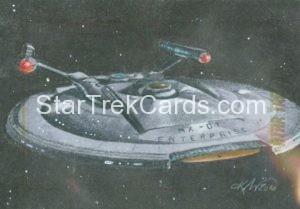 Star Trek 50th Anniversary Trading Card Sketch Kristin Allen Alternate