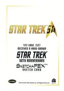 Star Trek 50th Anniversary Trading Card Sketch Kristin Allen Back