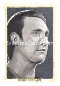 Star Trek 50th Anniversary Trading Card Sketch Kyle Babbitt Alternate