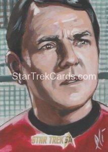 Star Trek 50th Anniversary Trading Card Sketch Lee Lightfoot Alternate