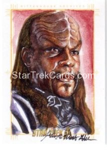 Star Trek 50th Anniversary Trading Card Sketch Mick Matt Glebe