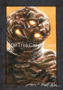 Star Trek 50th Anniversary Trading Card Sketch Mick Matt Glebe Alternate