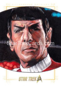 Star Trek 50th Anniversary Trading Card Sketch Mike James Alternate