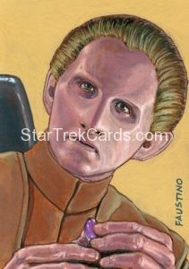 Star Trek 50th Anniversary Trading Card Sketch Norman Jim Faustino