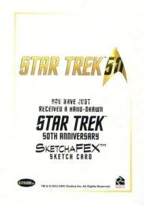 Star Trek 50th Anniversary Trading Card Sketch Norman Jim Faustino Back