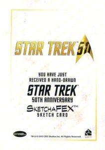 Star Trek 50th Anniversary Trading Card Sketch Rich Molinelli Back
