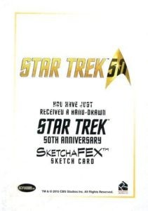Star Trek 50th Anniversary Trading Card Sketch Roy Cover Back