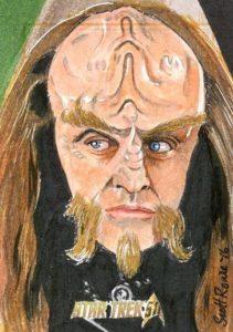Star Trek 50th Anniversary Trading Card Sketch Scott Rorie Alternate