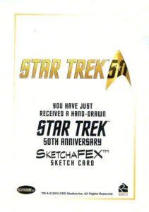 Star Trek 50th Anniversary Trading Card Sketch Scott Rorie Back