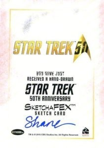 Star Trek 50th Anniversary Trading Card Sketch Shane McCormack Back