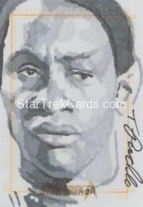 Star Trek 50th Anniversary Trading Card Sketch Tanner Padlo Alternate