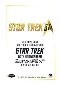Star Trek 50th Anniversary Trading Card Sketch Tanner Padlo Back
